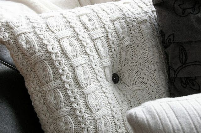 Sweater Pillows - FYI... if I'm given a sweater it may or may not stay a sweater.