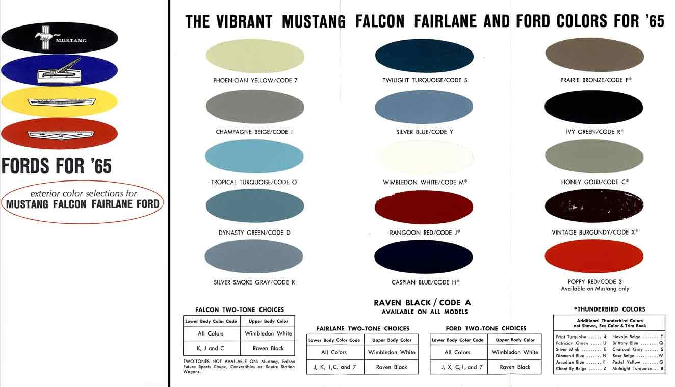 Ford mustang colors 1965 ford 1965 exterior color selection for ford mustang colors 1965 ford 1965 exterior color selection for mustang falcon nvjuhfo Choice Image