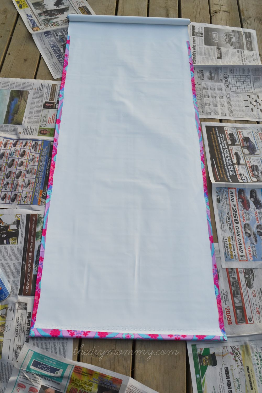Make a NoSew Fabric Covered Roller Shade  Good ideas