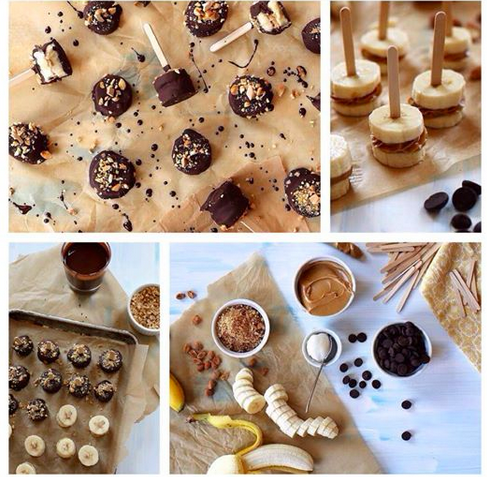 Crazy lady fitness: chocolate covered peanut butter banana bites