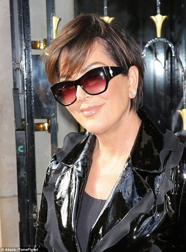 f93a27f9bdd3a Glitter  Kris rounded out her ensemble with stylish shades and glittering  diamond earrings.
