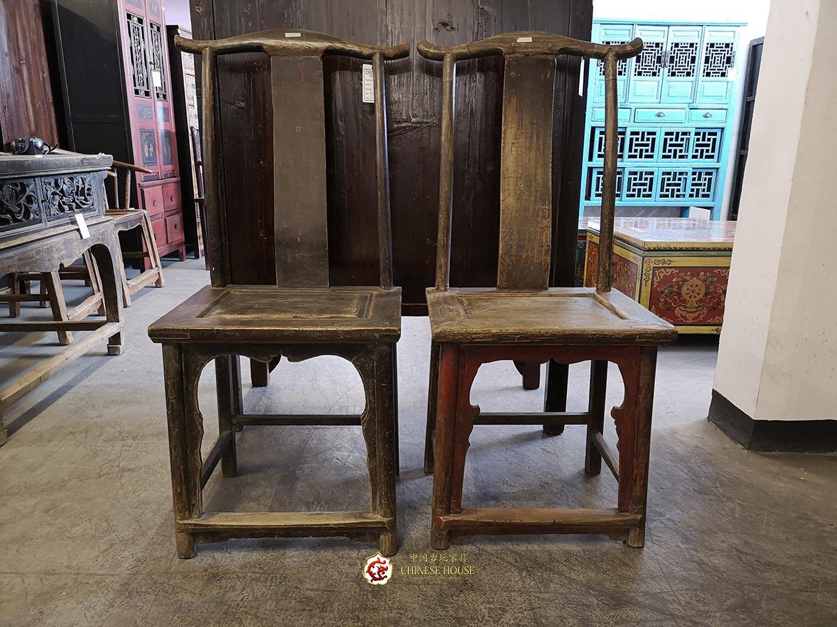 Shanxi Art Antique Antique Chairs Original Wood Color Suitable For Home Office And Condo Decoration Dimension 58w X 50d X 168h Cm Code Ch ม ร ปภาพ เก าอ