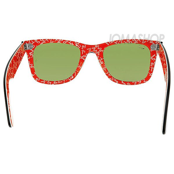 62ec3673a Ray-Ban Original Wayfarer Black Frame with Red White Logo Print Sunglasses  2140-1016