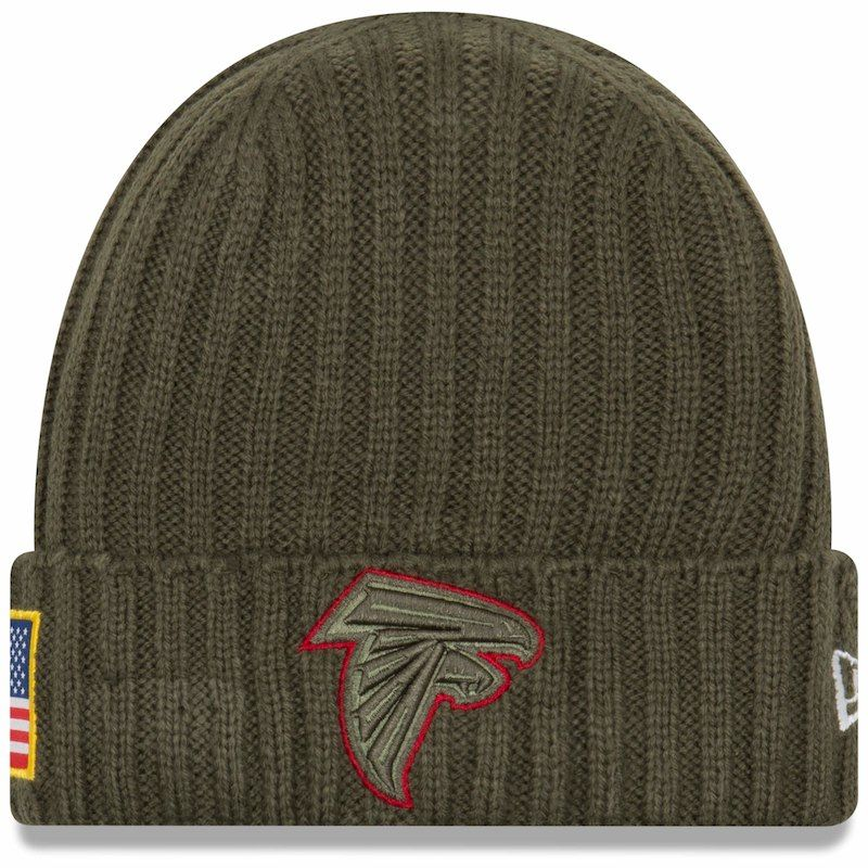 Atlanta Falcons New Era Youth 2017 Salute To Service Cuffed Knit Hat – Olive 540506175