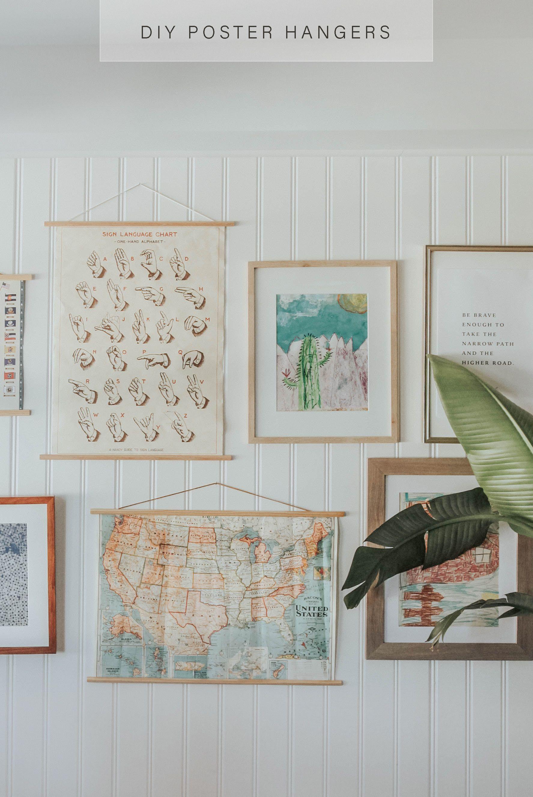 DIY Poster Hangers in 3 steps.