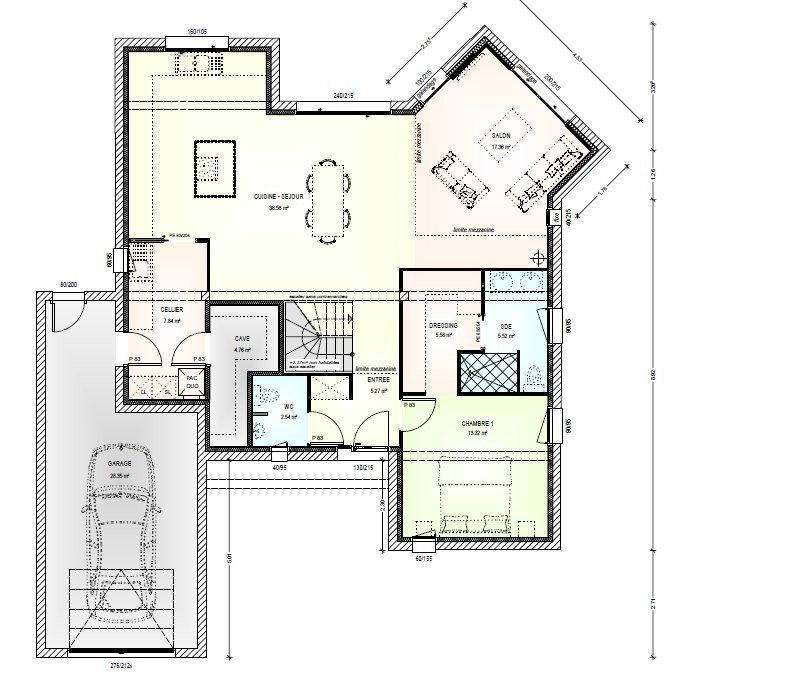 Plan achat maison neuve à construire - Maisons Bernard Jambert Avant - faire sa maison en 3d