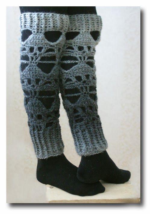 crochet skull leg warmers. | Crochet accessory | Pinterest | Drachen ...