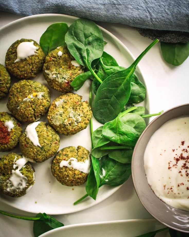 Spinach Falafels Baked Oil Free Gluten Free