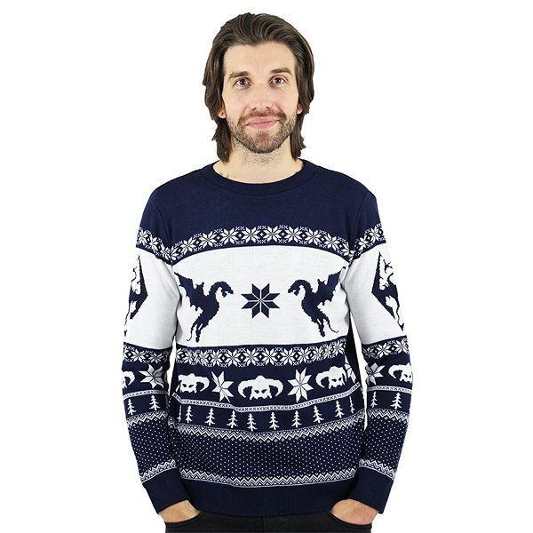 Pull De Noel Geek.Skyrim Christmas Jumper Ugly Sweater Geek Stuff