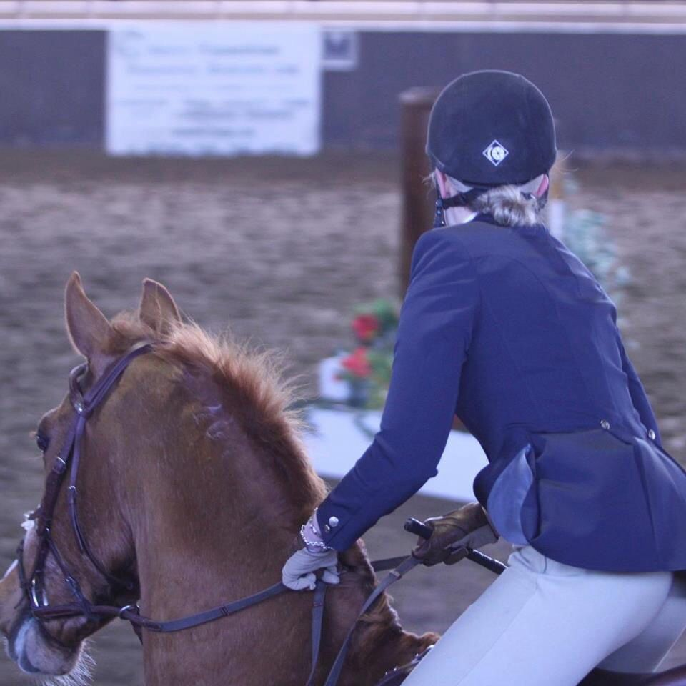 My old horse, Eddy, and I on course. Photo by David Wayne!