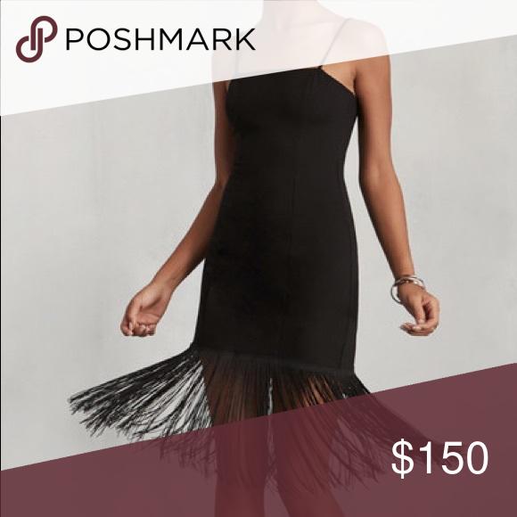 e3e8b6a8c54d Reformation Aphelia Fringe Dress - XS Black fringe dress Tight fit Short  dress with long fringe that hits below the knee Fits size 0 Zip closure in  back ...