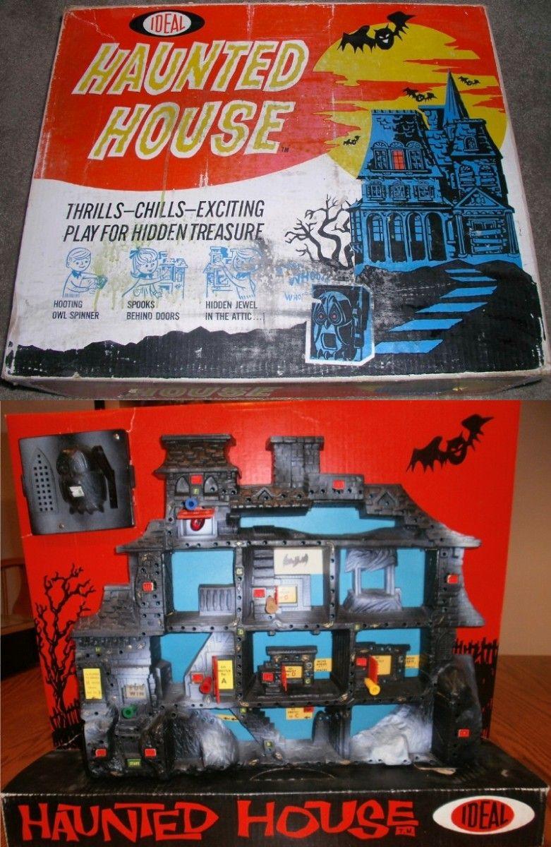 IDEAL 1962 HAUNTED HOUSE Hidden Treasure Game Hidden