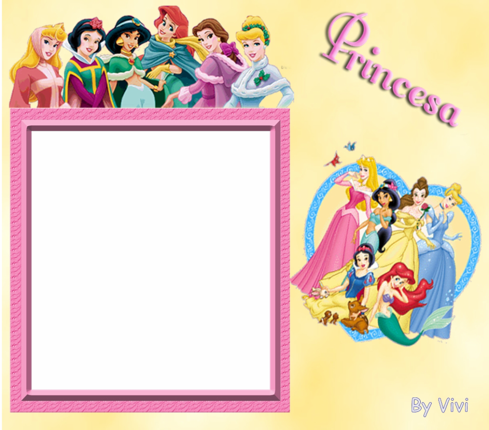Disney Princess All Together And Alone Free Printable Photo