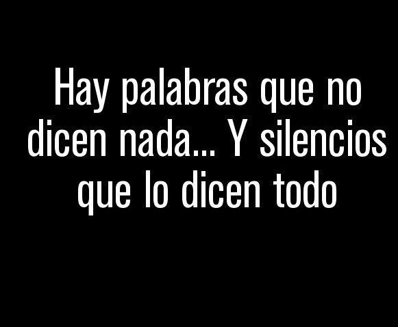 Silencios q lo dicen todo!!