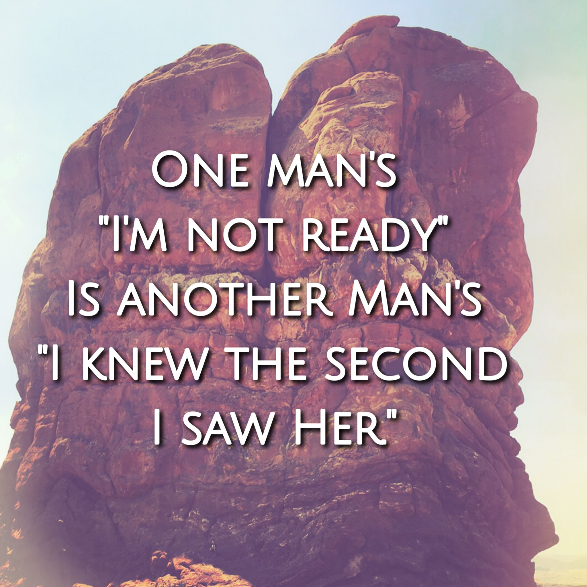 Why should you not wait when he says that he is not ready for something serious?