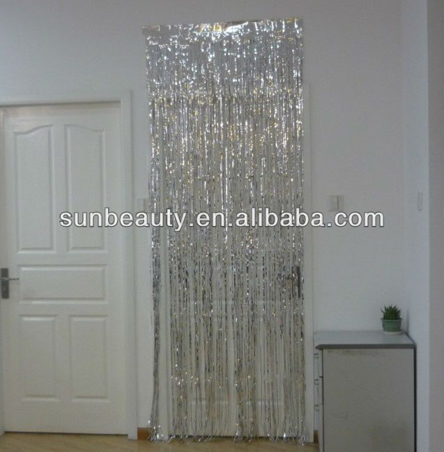 Hot Selling Iridescent Foil Curtain Foil Curtain Door Curtains