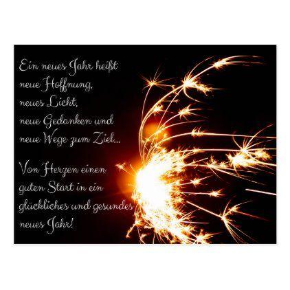 Glückliches und gesundes neues Jahr! Postcard - New Year's Eve happy new year designs party celebration Saint Sylvester's Day