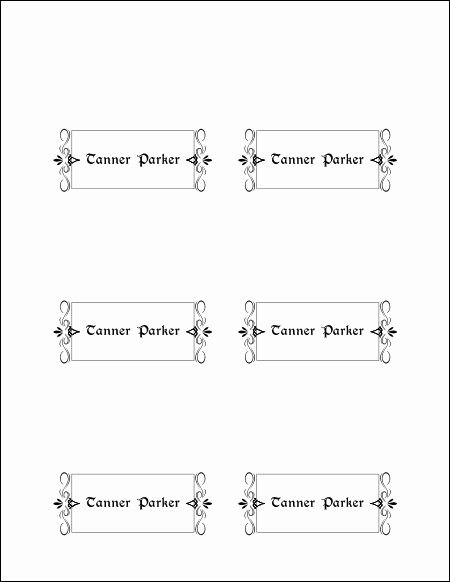 Free Place Card Template Word Inspirational 10 Best Of ...