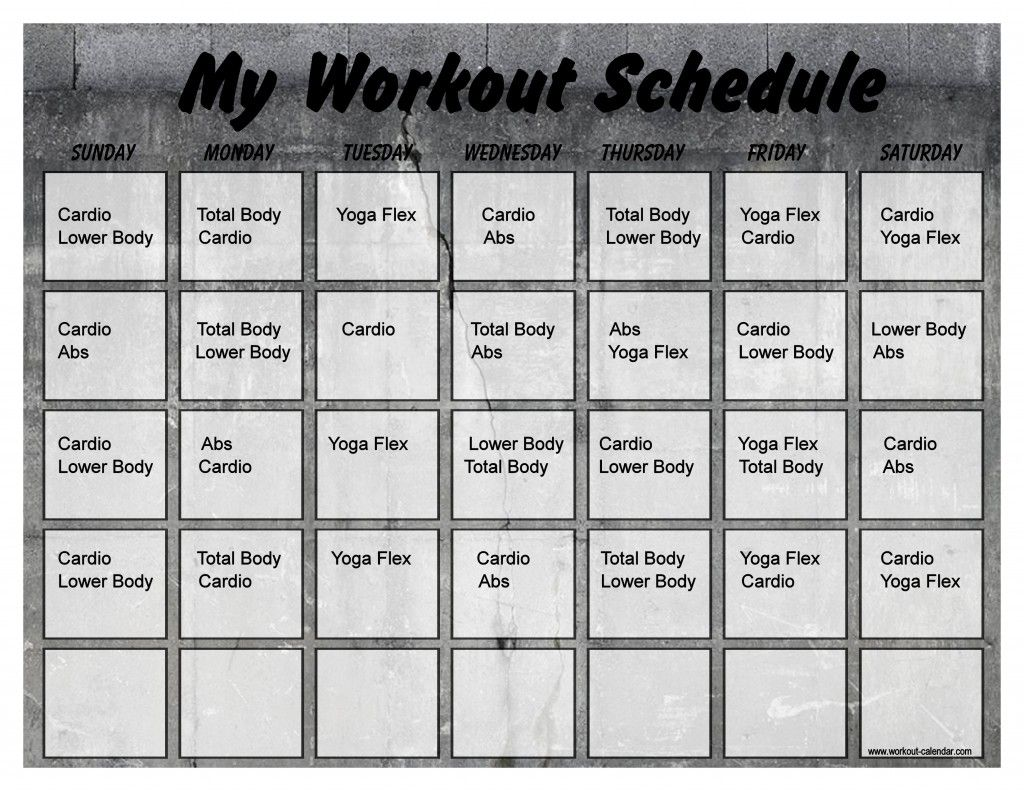 Concrete 10 Minute Trainer Calendar 20 10 Minute Trainer Workout Calendar Tony Horton 10 Minute Workout