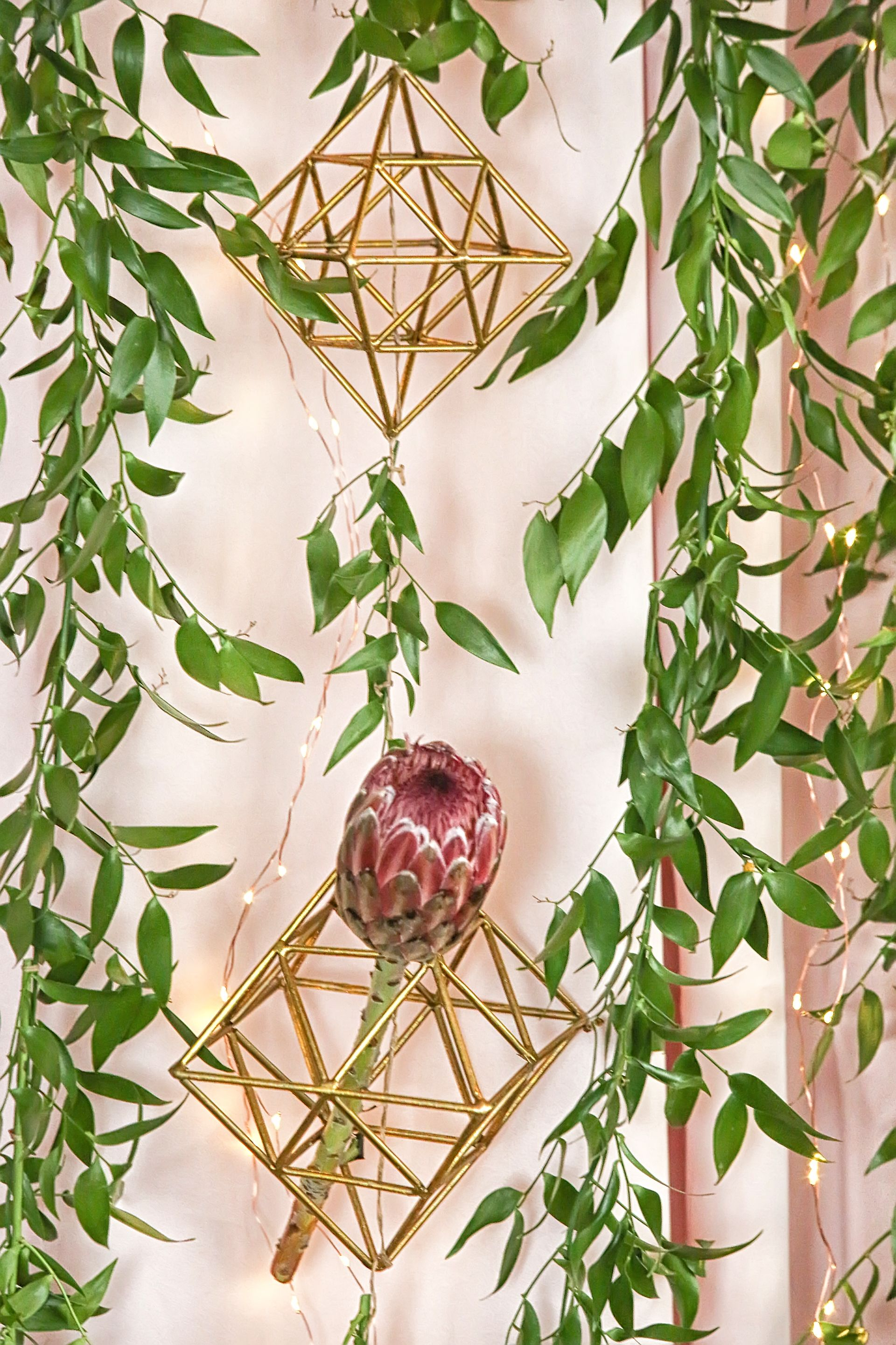 Lana Designed This Ceremony Structure With Protea And