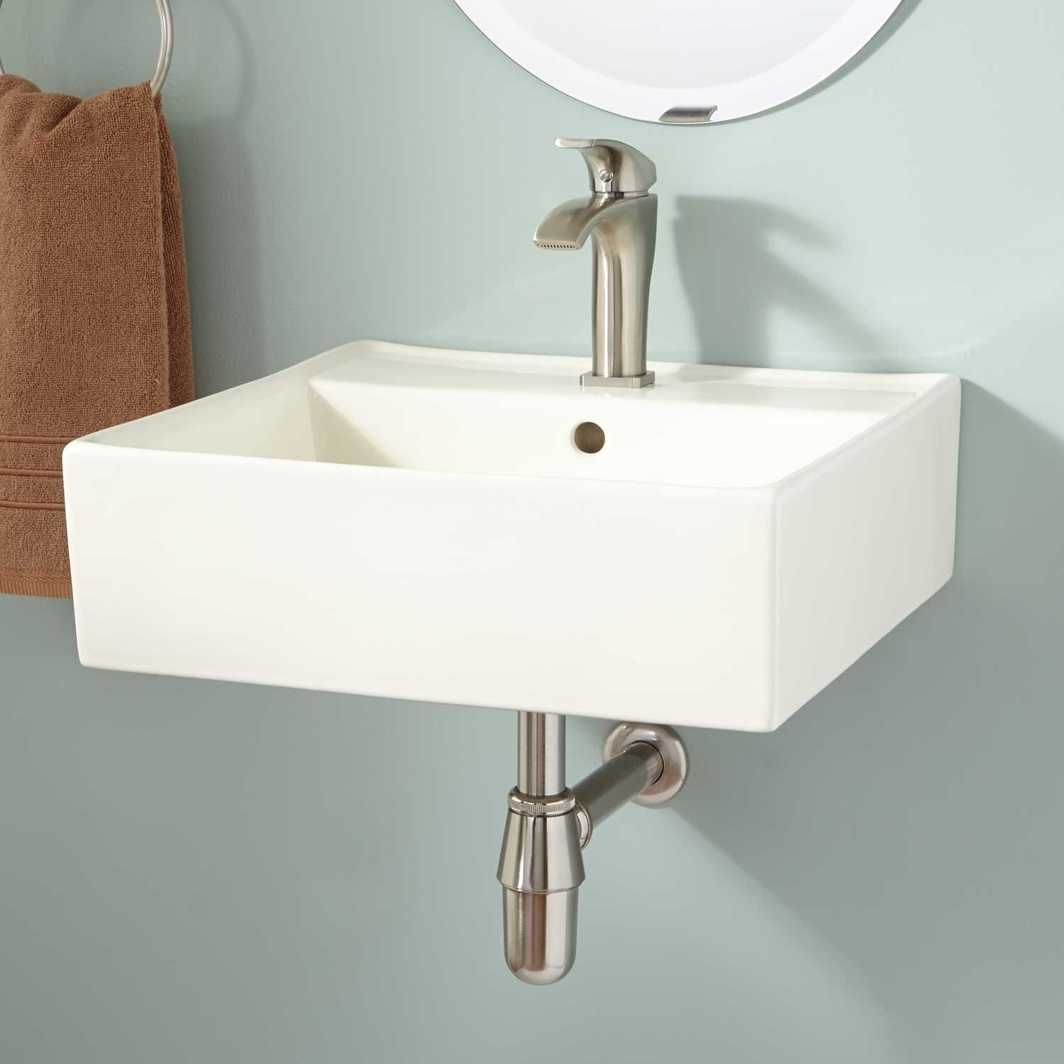 Audrie Wall Mount Bathroom Sink Wall Mounted Bathroom Sinks Small Bathroom Sinks Farmhouse Bathroom Sink