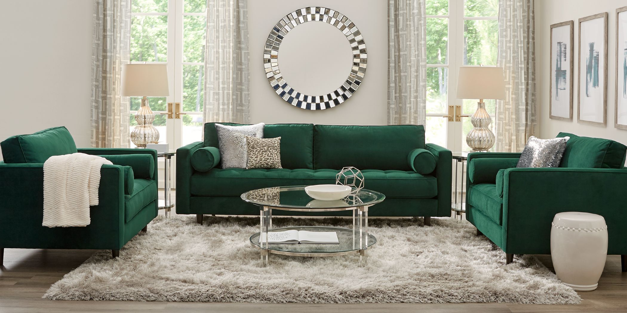 26 Living Room Sofa Ideas In 2021, Green Living Room Furniture