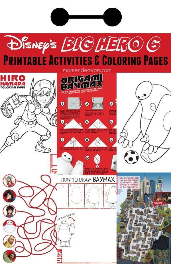 Disneys Big Hero 6 FREE Printable Activities Coloring Pages