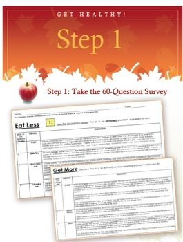 how healthy is your diet survey lesson plan