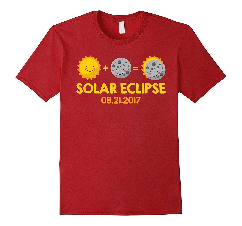 Cartoon Solar Eclipse August 21 2017 T-shirt