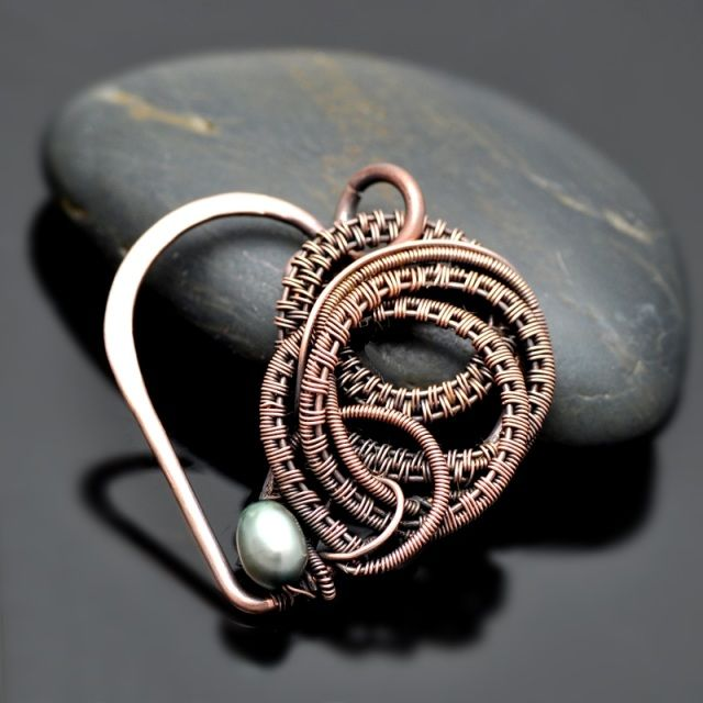 Wrapped Up In Love Wire Wrap Copper Heart Pendant - Nicole Hanna Jewelry