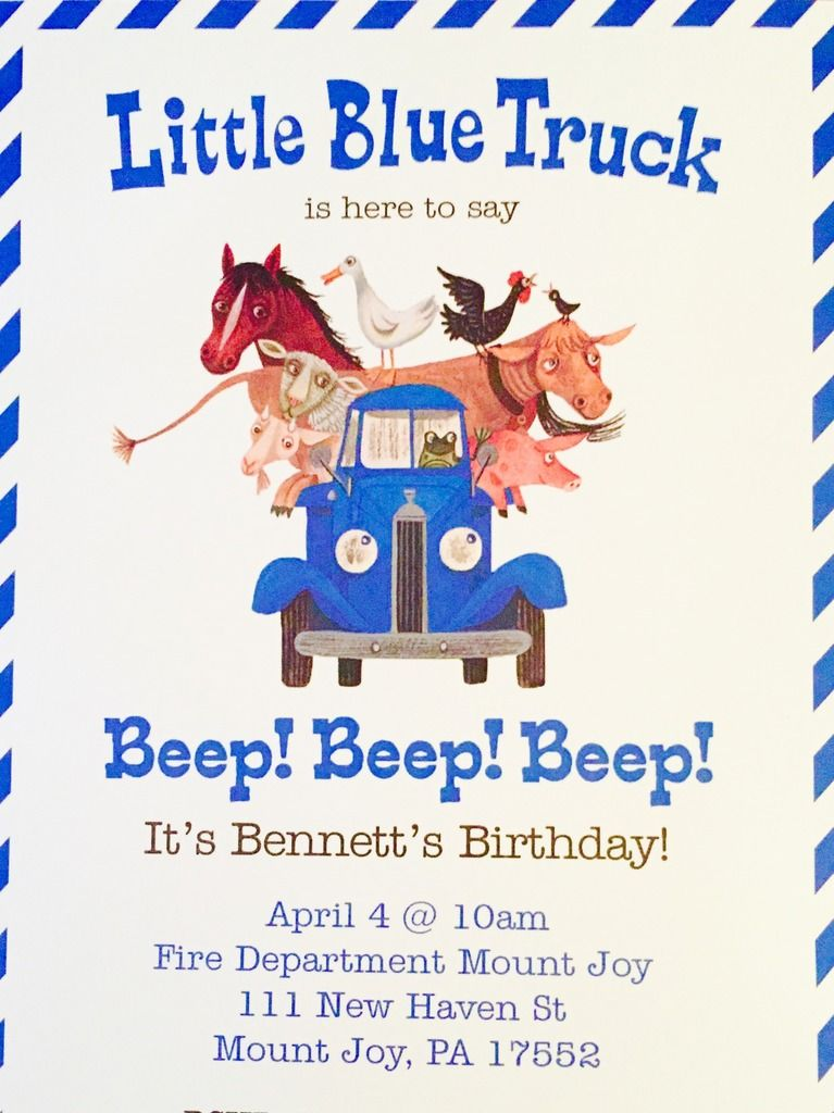 Little blue truck happy 2nd birthday trucks birthday