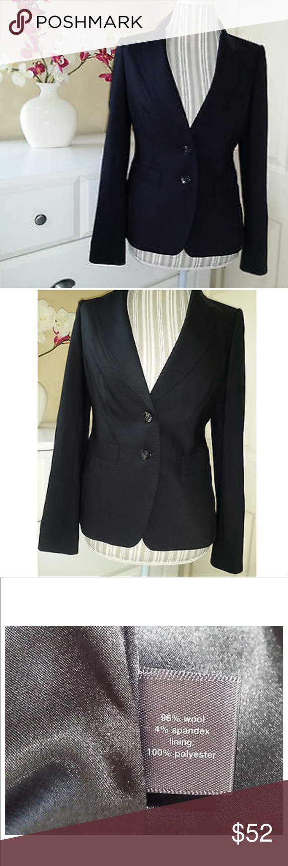 The Limited Luxe Blazer Black 2 The Limited Luxe Blazer Black 2  EUC   Timeless classic blazer. Necessary staple is every closet! The Limited Jackets & Coats Blazers