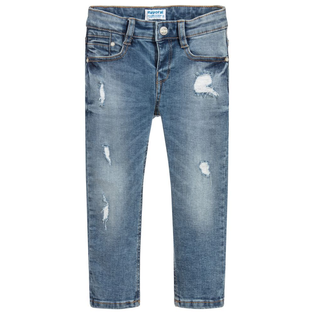 82c3108b2 Boys Loose Fit Denim Jeans for Boy by Mayoral. Discover the latest designer  Trousers & Shorts for kids online at Childrensalon.co.