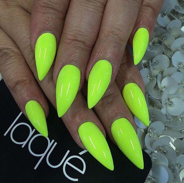 Neon green nails | Nails | Pinterest | Neon green nails, Green nail ...