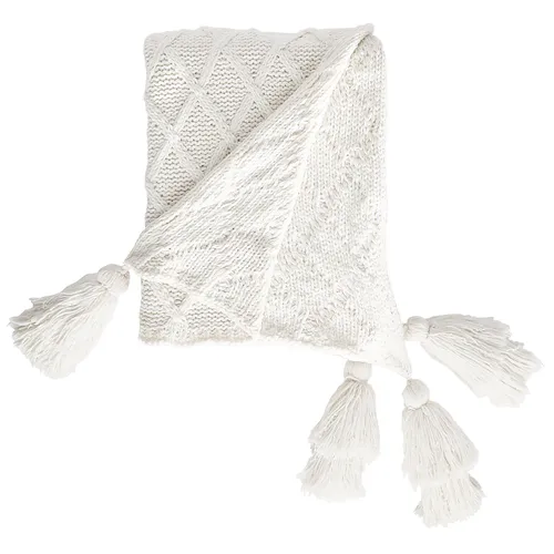 Ivory Chenille Throw with Tassels Tassels, Painting old