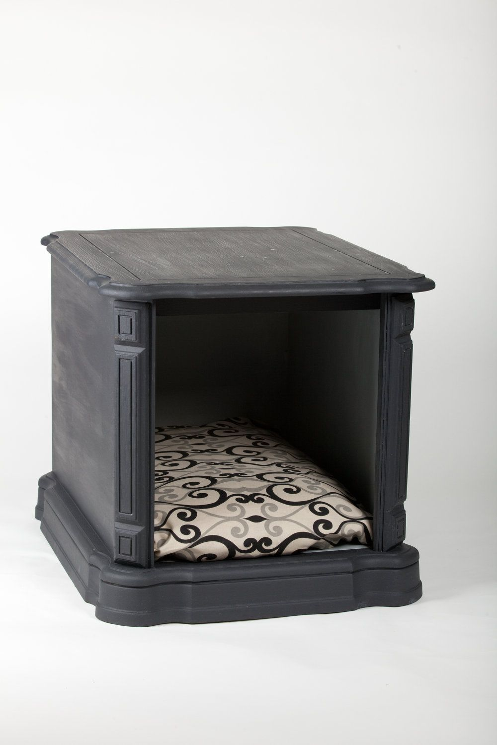 Another doggie bed inspiration piece. Vintage nightstand turned doggie bed.  I can use the. End Table Pet ...