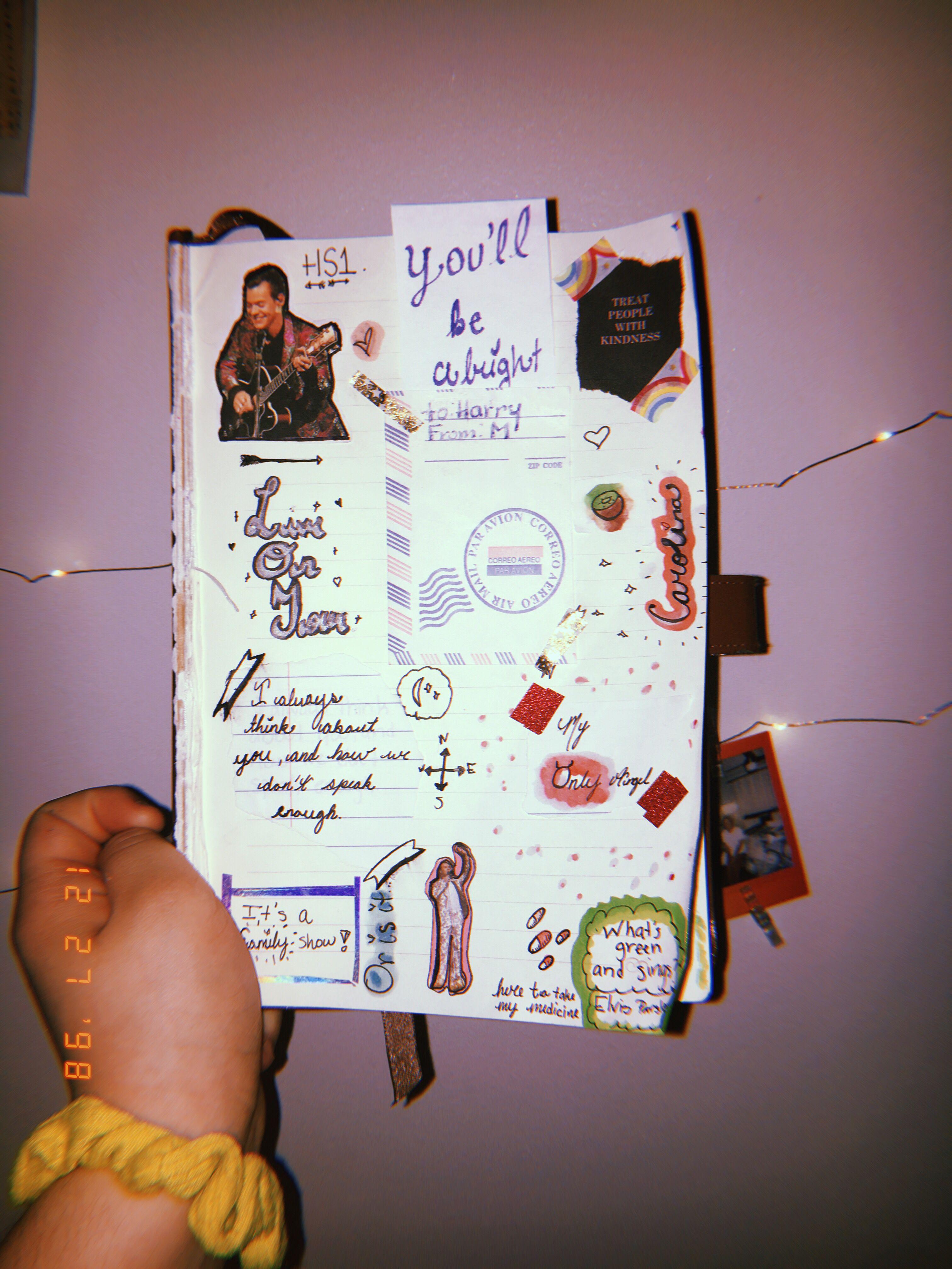 Artsy Journal Pinterest Parisisntfarfromhere Harry Styles Harry Styles Wallpaper Bullet Journal Inspiration