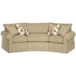 Furniture Paula Deen Paula Deen Home Casual Conversation Sofa With Skirt By Paula Deen By Cushions On Sofa Conversation Sofa Sofa