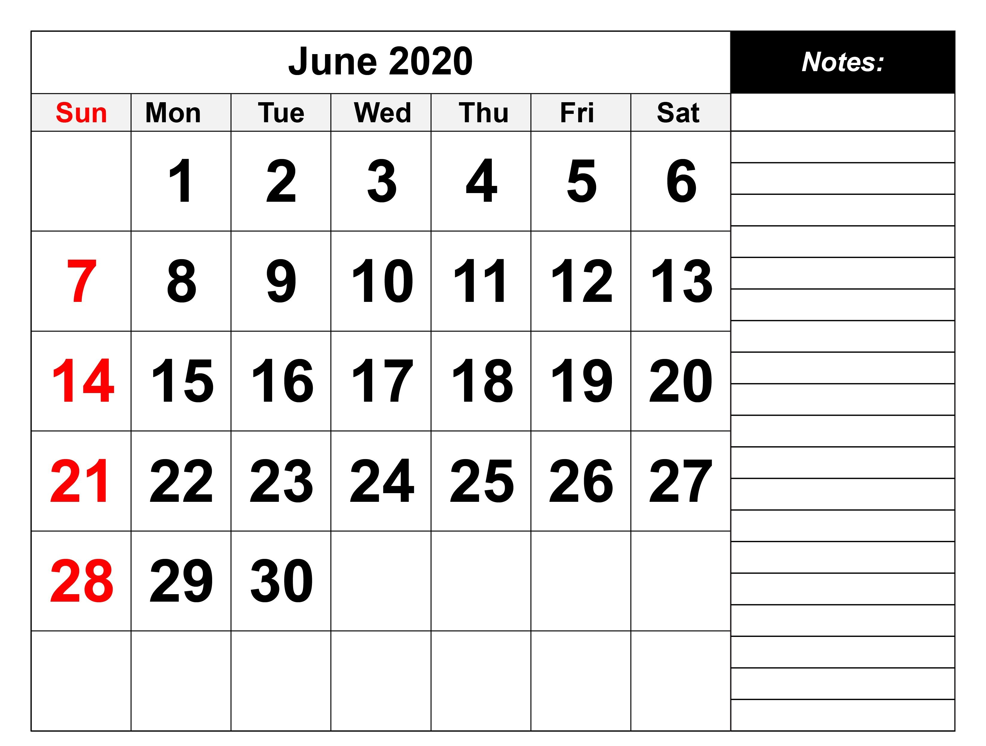 June 2020 Calendar With Holidays In 2020 2020 Calendar Template