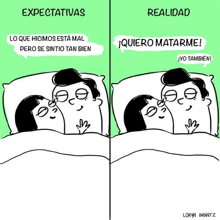 expectativa vs. realidad mal sexo