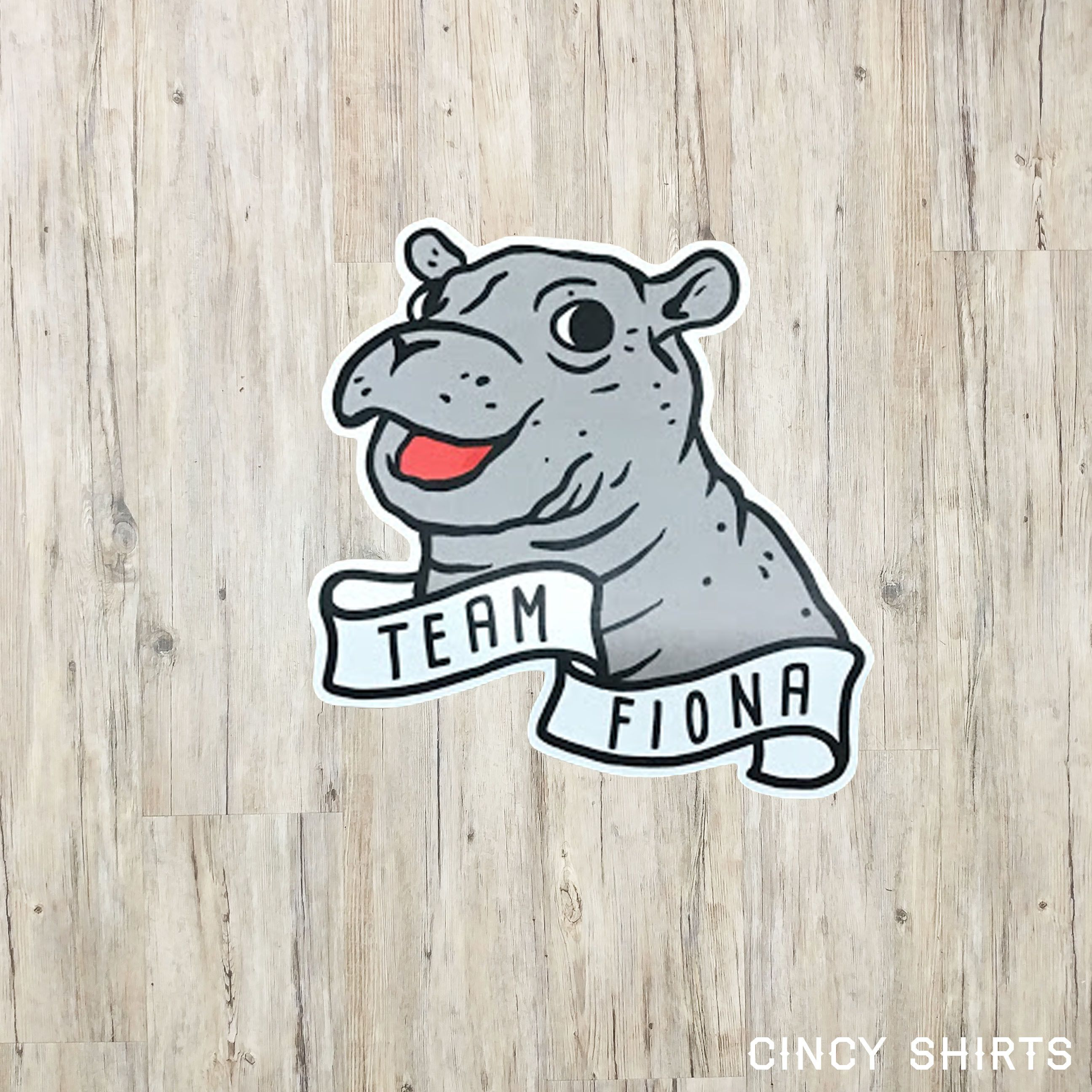 Team Fiona the Hippo Sticker | Fiona Cincinnati Zoo | Pinterest ...