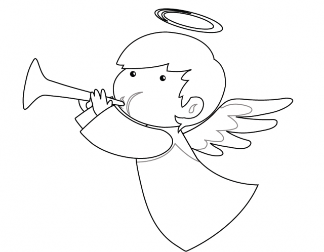 Disegni Di Natale L Angioletto Da Colorare Angeli Di Natale