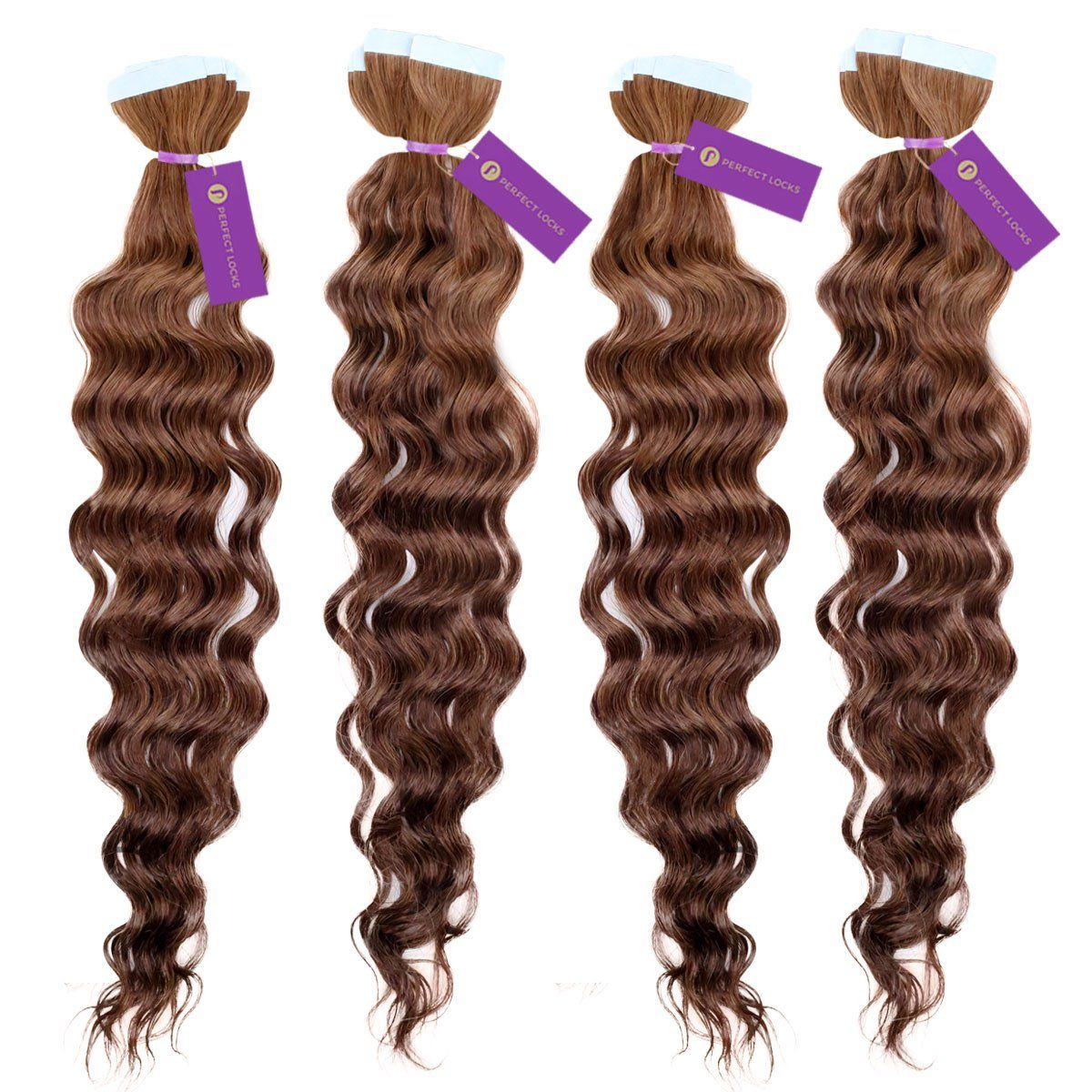Curly tapein hair extension bundle deal hair extensions curly
