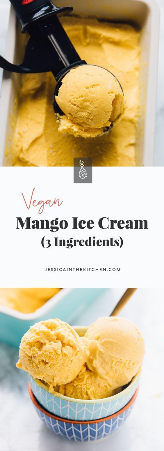 Vegan Mango Ice Cream (3 Ingredients)