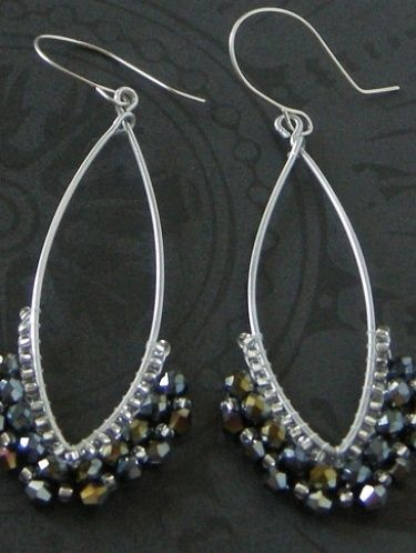 Silvertone Leaf Sparkle Earrings | Meylah   I love earrings and These are really special!