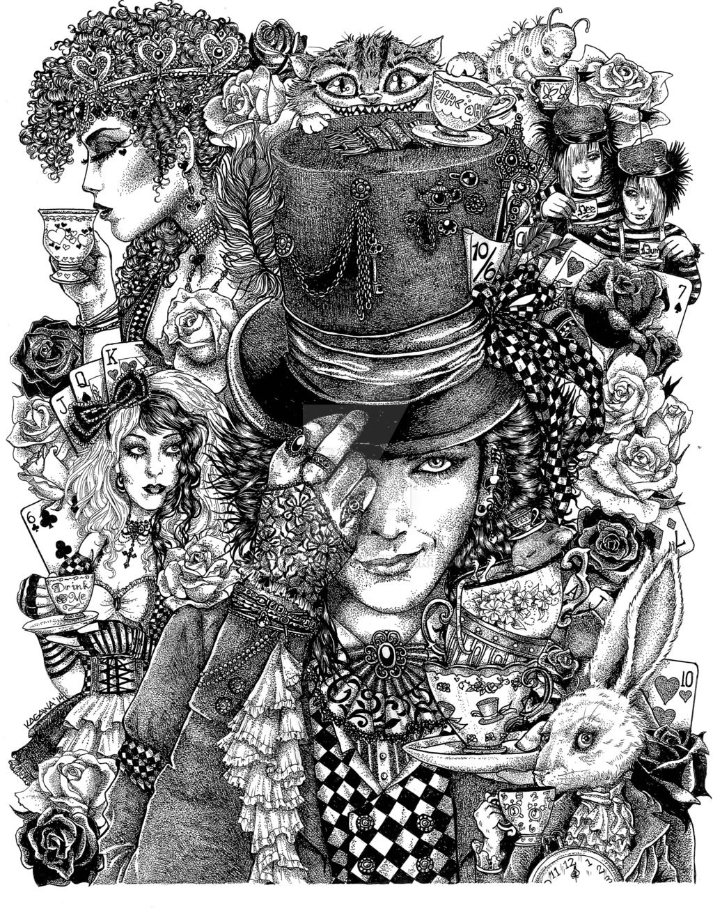 Hatter's Tea Party by LKBurke29.deviantart.com on @DeviantArt