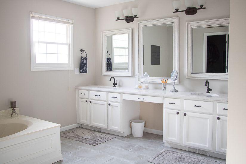 Easy Master Bathroom Updates And Reveal Photo Sypsie Designs Master Bathroom Update Easy Bathroom Updates Bathroom Vanity
