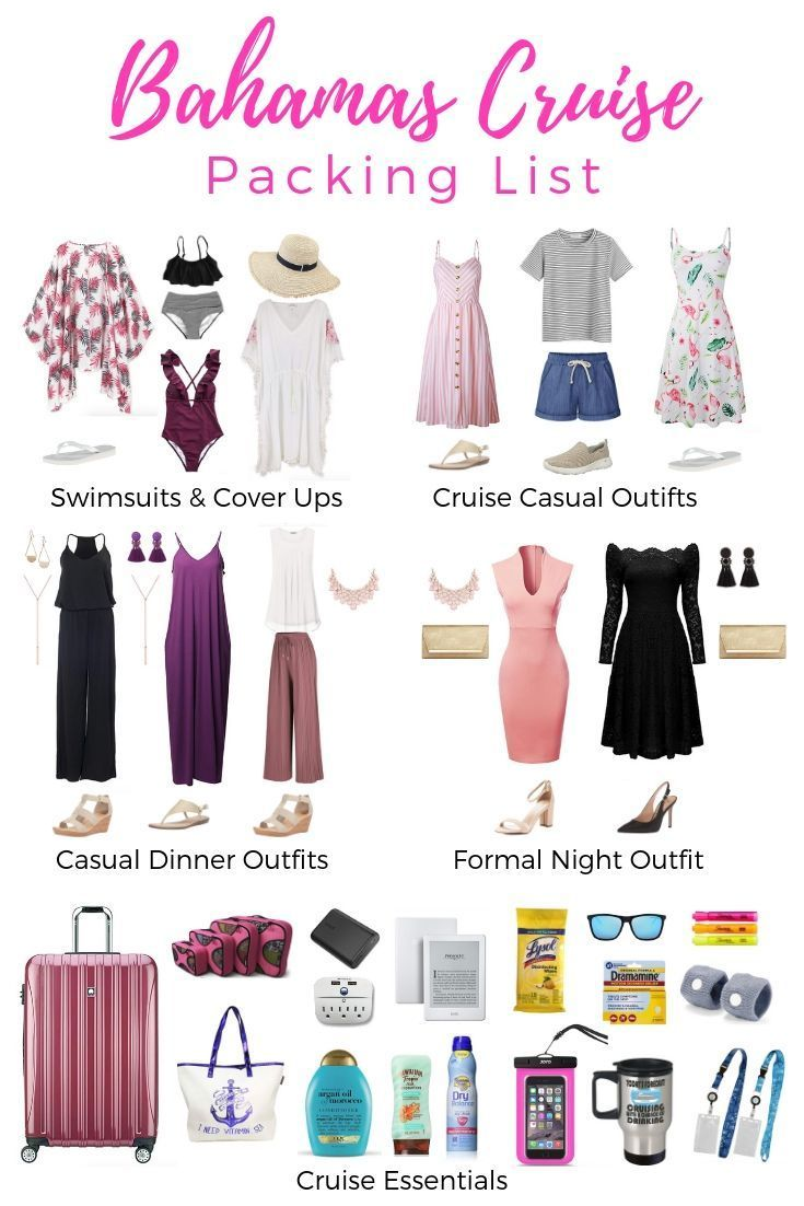 Bahamas Cruise Packing List  What to wear on a Bahamas Cruise #C   #Honeymoon