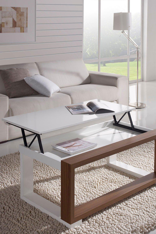 10 Tables Basses Relevables Pour Optimiser L Espace Dans Votre Salon En 2020 Table Basse Relevable Table Basse Table Basse Transformable