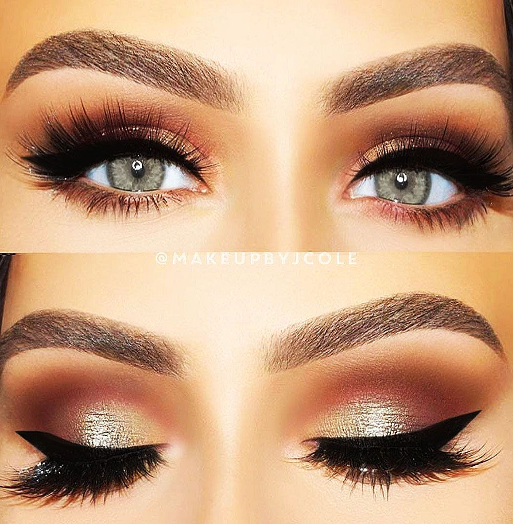 Eyeshadow And Eyeliner Technique Ideas That Will Bring Your Eyes To The Fore Page 13 Of 42 Lady Ideas Makeup With Yellow Dress Makeup For Hazel Eyes Green Dress Makeup [ 1080 x 1058 Pixel ]
